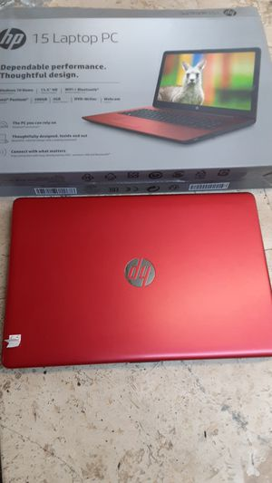 HP 15 inch laptop PC Windows 10 premium 500 gig hard drive Bluetooth Intel Pentium laptop computer notebook for Sale in Pompano Beach, FL