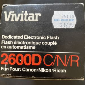 Vivitar 2600D Shoe Mount Flash Vintage Camera Photography Equipment C/N/R for Sale in Phoenix, AZ