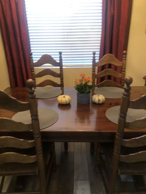 Ethan Allen table with leaf and 6 chairs for Sale in Simi Valley, CA