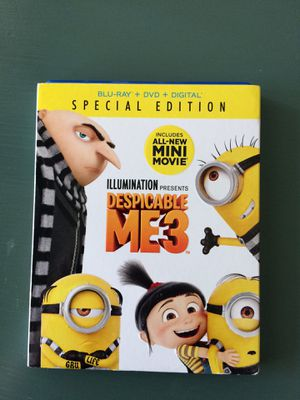 Despicable Me 3 Blu Ray & DVD for Sale in Tampa, FL