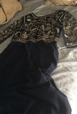 Maner. Dress L navy blue brand new, wedding or prom dresses for Sale in West Jordan, UT