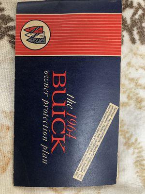 ORIGINAL BUICK OWNERS BOOK for Sale in Arroyo Grande, CA