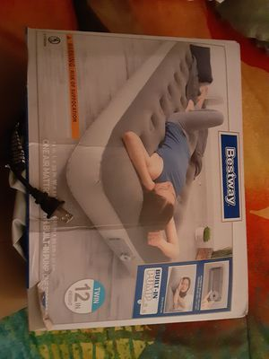 $20 Twin air mattress with built in pump for Sale in Fresno, CA
