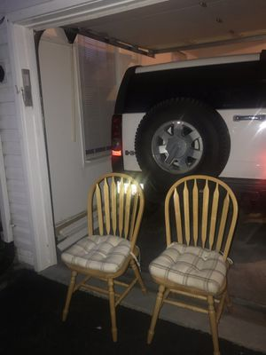 Solid Oak Chairs (2) for Sale in Urbana, MD