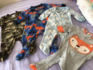 Baby boy clothes 24 onesie+ 20 pants very clean smoke free pet free home for Sale in Emerald Hills, CA