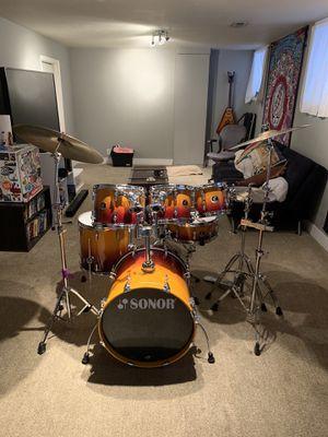 Sonor Force 3007 6-piece Drum Kit (Sunburst) Full Set- 2010 for Sale in Denver, CO