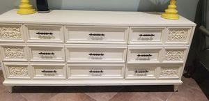 Antique white drawer / desk / TV stand for Sale in Katy, TX