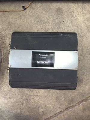 Truck Subwoofer and amp with cords for Sale in New Albany, OH