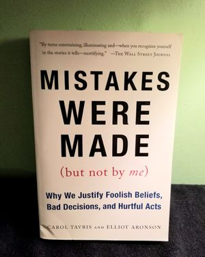 """""""Mistakes Were Made, But Not By Me"""" Paperback Book for Sale in Port St. Lucie, FL"""
