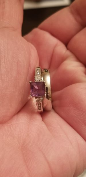 10kt White gold ring set for Sale in Gaithersburg, MD