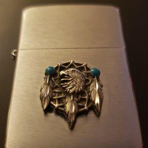 DISCONTINUED Zippo Native American Design w/ Sterling Silver & Turquoise Dream catcher for Sale in Chicago, IL