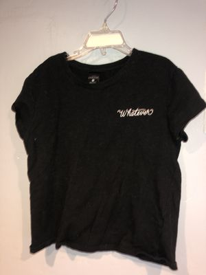 Forever 21 black ' Whatever ' crop top. for Sale in Woodland, CA