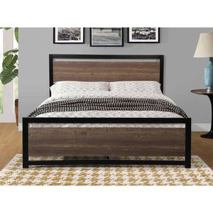 Queen Size Metal Frame Bed with Mattress Included for Sale in Los Angeles, CA
