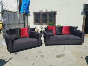 NEW JEAGUAR BLACK FABRIC COUCHES for Sale in Spring Valley, CA
