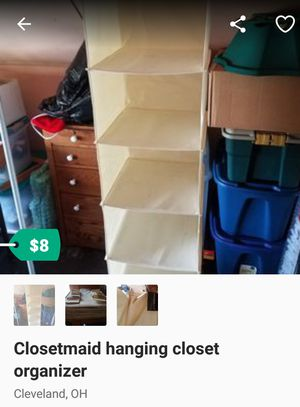 Closetmaid hanging closet organizer for Sale in Cleveland, OH