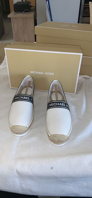 Size 7.5 mathilde espadrille slip ons Michael kors for Sale in Apple Valley, CA