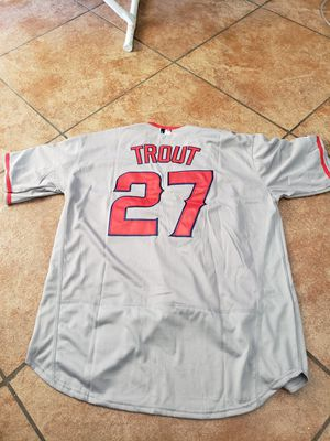 LA ANGELS MIKE TROUT JERSEY SIZE med n large n 2XL n 3xl 100% STITCHED for Sale in Colton, CA