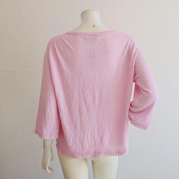 J. Crew 100% Linen 3/4 Sleeve Summer Sweater SZ L (NWT)