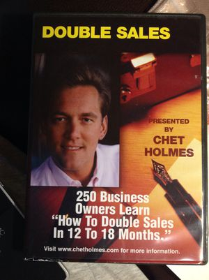 New Double Sales How to In 12 To 18 Months Chet Holmes - only 1 on Amazon or internet for Sale in Poulsbo, WA