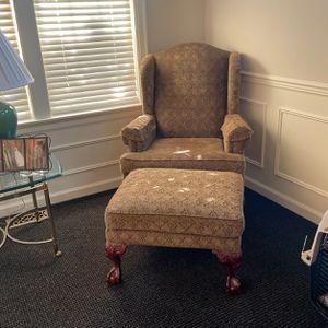 Wingback Chair & Footstool for Sale in Auburn, WA