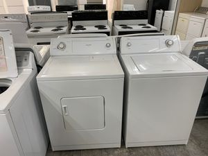 Whirlpool 3.5 cu. ft. White Top Load Washing Machine and 6.5 cu. ft. 120-Volt White Vented Dryer for Sale in Garland, TX