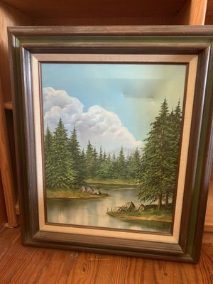 D. Chas. Kingsbury Canvas Oil Painting for Sale in Smithfield, RI