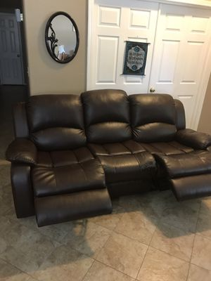 Lather sofa chair all recliner pet and smoke free for Sale in Fresno, CA