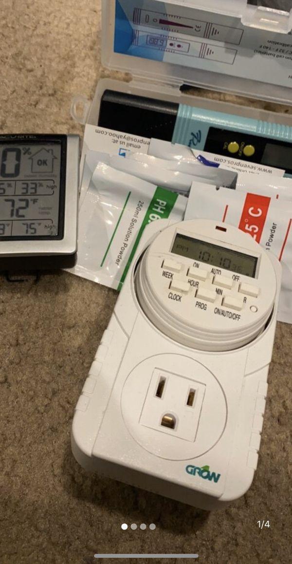 Timer/ph pen/temperature-humidity reader
