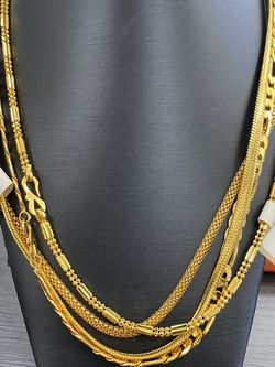 """18"""" and 24"""" CT Gold Plated Chains for Sale in Addison,  TX"""