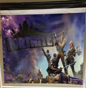 Fortnite back drop with adjustable stand for Sale in Grand Prairie, TX