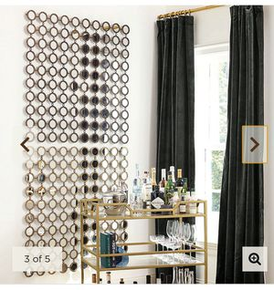 Stunning pair of Grid Mirrors add Glamour & Light for Sale in Woodinville, WA