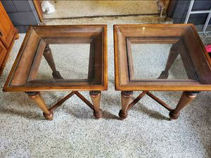 2 Glass top tables for Sale in Kissimmee, FL
