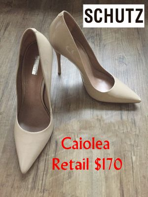 Schutz Caiolea Nude Patent Leather Pumps 8 for Sale in Glenarden, MD