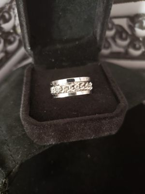 Woman sz6 spinner ring.. solid stainless steel for Sale in Meriden, CT