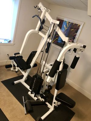 Parabody weight bench 3 station commercial home gym for Sale in Saint Charles, MO