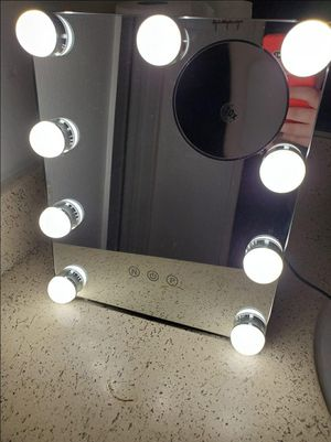 Vanity Mirror with Lights, Hollywood Makeup Mirror with Dimmable LED Lights 3 Colors Light, 10X Magnification Touch Control 360°Rotation for Sale in South Gate, CA