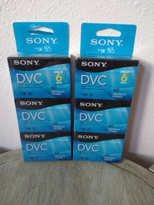Sony 60 minute DVC 6 pack for Sale in Portland, OR