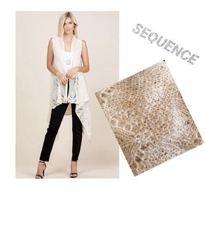 New Ivory Sweater Vest Cardigan with Sequins for Sale in Saginaw, MI