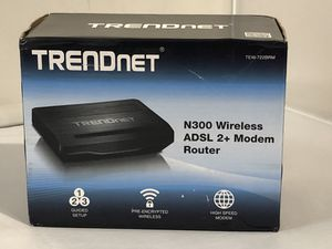 TRENDnet N300 Wireless ADSL 2+ Modem Router, Compatible with ADSL 2/2+ ISP for Sale in Spokane, WA