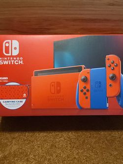 """Nintendo Switch """"Mario Red and Blue"""" Edition w/ Carrying Case & Screen Protector for Sale in Harrisonburg,  VA"""