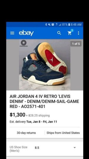 Jordan 4 Levi's Size 8.5! for Sale in Orlando, FL