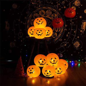 Halloween decorations (20 Halloween pumpkin LED light up balloons with pump) for Sale in Yorba Linda, CA