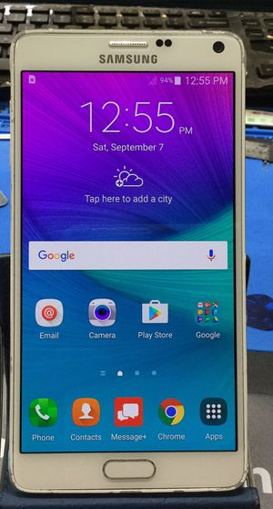 Note 4 - unlocked, free activation for Sale in Indianapolis, IN
