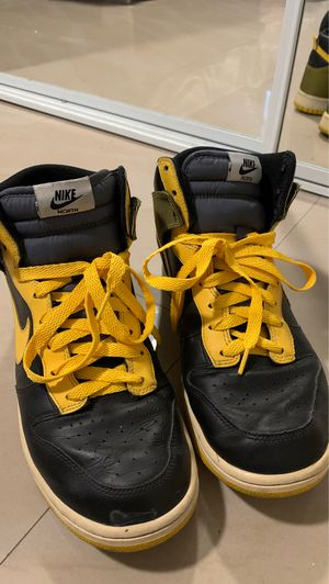 Nike Air Force ones high tops black yellow men's shoes 9.5 for Sale in Kissimmee, FL
