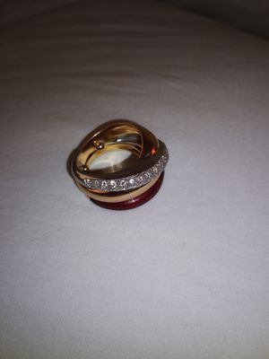 Nouvelle Bague 18 k Multi Color Diamond Enamel Ring 22.3 g Size 6.5 for Sale in Sunnyvale, CA