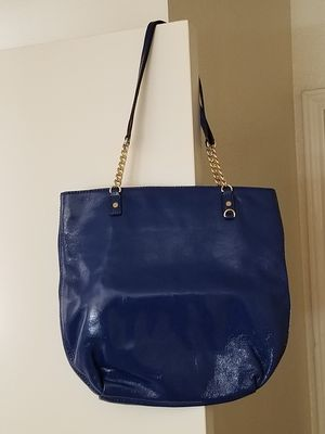 Michael Kors Royal Blue Patent Leather Tote for Sale in Abilene, TX