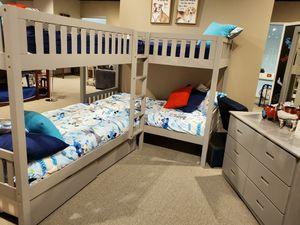 Twin size Quadruple Bunk bed 4 FREE MATTRESS for Sale in Las Vegas, NV