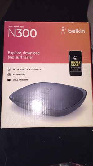 Belkin N300 router for Sale in Rock Island, IL
