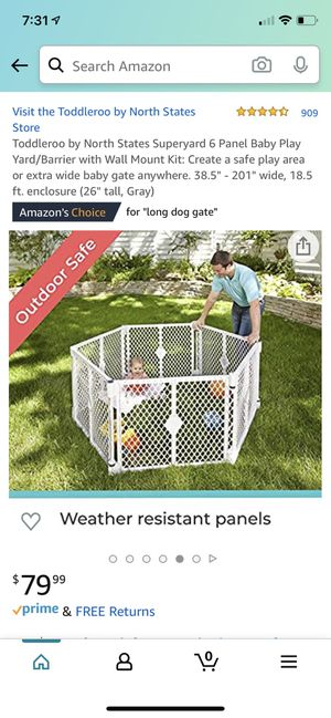 Baby / Dog plastic gate barrier. 6 or 12 panels for Sale in Paramus, NJ