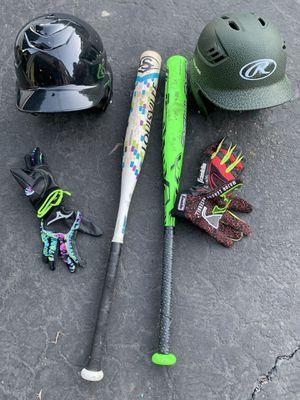 Baseball softball bats helmets batting gloves for Sale in Mt. Juliet, TN